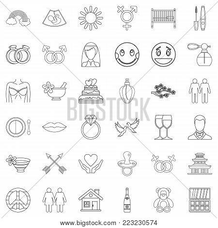 Responsiveness icons set. Outline set of 36 responsiveness vector icons for web isolated on white background
