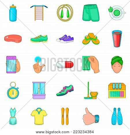 Experience icons set. Cartoon set of 25 experience vector icons for web isolated on white background