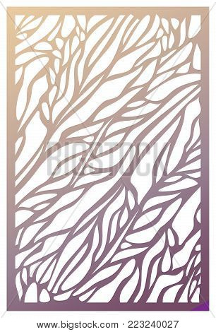 Vector Laser cut panel. Abstract Pattern template for decorative panel. Template for interior design, layouts wedding invitations, gritting cards, envelopes, decorative art objects etc. Image suitable for engraving, printing, plotter cutting, laser cuttin