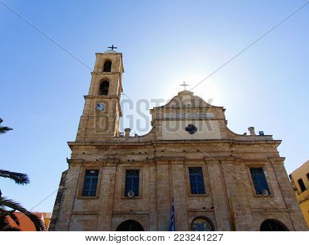 Church from Chania, nearby the Venetian Harbour, Greece