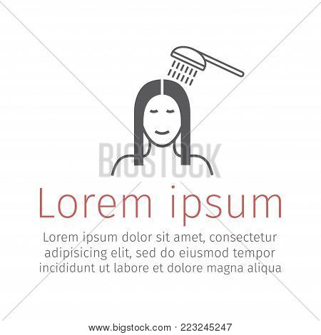 Take a shower. Vector sign for web graphic.