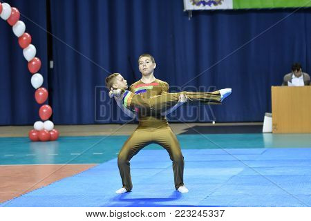 Orenburg, Russia, 26-27 May 2017 Years: Boys  Compete In Sports Acrobatics