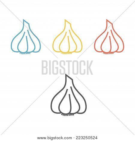 Garlic line icon. Vector icon for web graphic