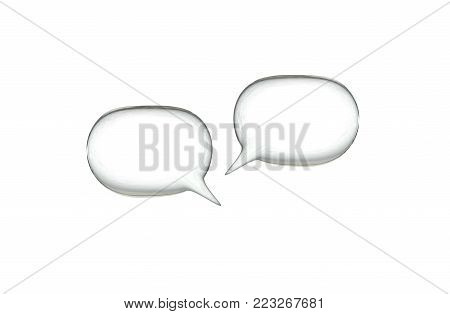 Two light speark bubbles isolated over white.