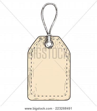 tag sketch vector illustration. label tag. tag