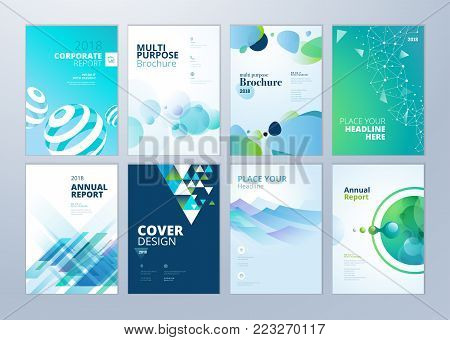 set brochure annual vector photo free trial bigstock
