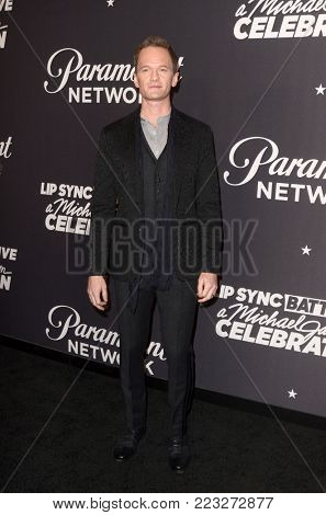 LOS ANGELES - JAN 18:  Neil Patrick Harris at the Lip Sync Battle LIVE: A Michael Jackson Celebration at the Dolby Theater on January 18, 2018 in Los Angeles, CA
