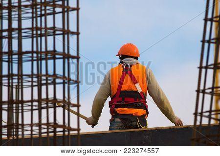 Labour Orange Hammer Image & Photo (Free Trial) | Bigstock