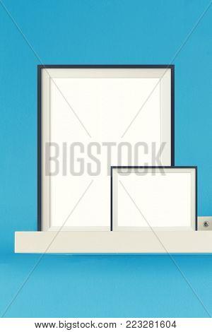 Image of simple poster frame mockup scene.