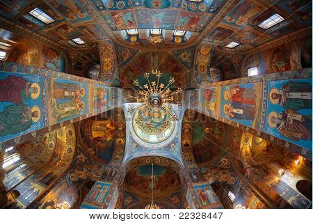Church of the Savior on Blood. Interiors. poster