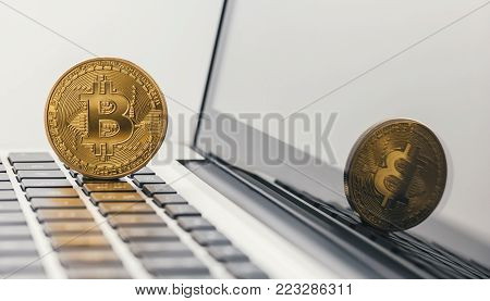 burst bitcoin bubble symbol image bitcoin crash, bitcoin Hype concept image. ideal for websites and magazines layouts