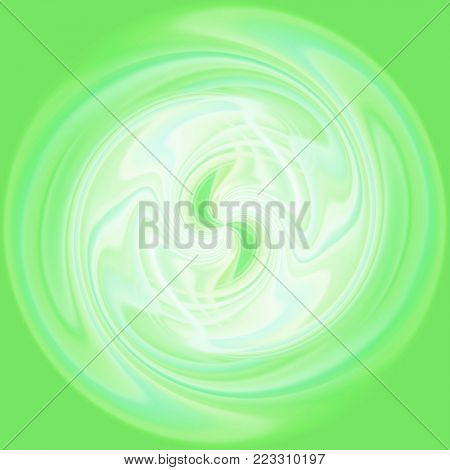 beautiful swirl of abstract green lines