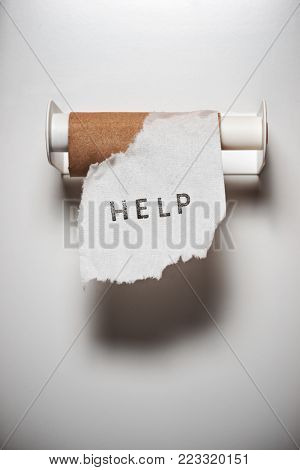 Message in the toilet.