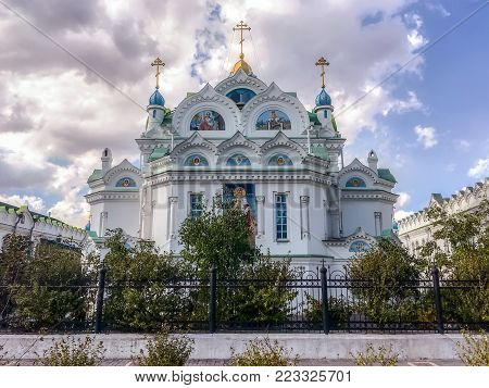 Architectural landmark - Church of St. Catherine the Great Martyr in Feodosia in Crimea