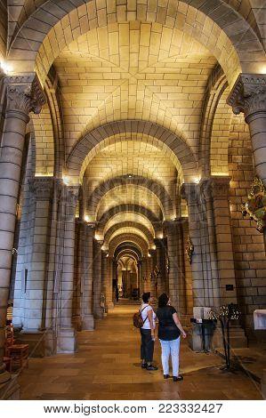 Monaco-ville, Monaco - July 11: Interior Of Saint Nicholas Cathedral On July 11, 2015 In Monaco-vill