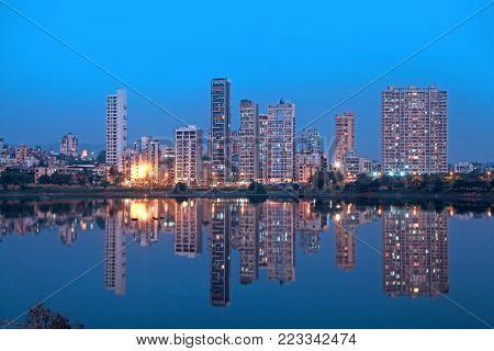 Navi Mumbai, India - 6 December 2015: Navi Mumbai is planned suburb built across sea on main land to reduce Mumbai congestion on Dec 6 2015.