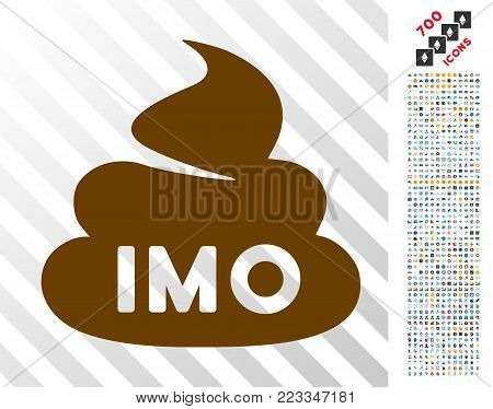 Imo Shit pictograph with 7 hundred bonus bitcoin mining and blockchain pictographs. Vector illustration style is flat iconic symbols designed for blockchain websites.