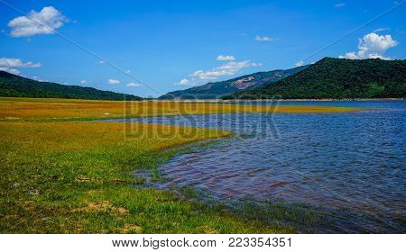 Lake Scenery Of Central Highlands, Vietnam. The Central Highlands Of Vietnam (tay Nguyen) Is One Of