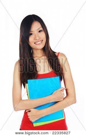 Asian University Student Ready on Enrollment Day