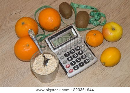 Citrus fruits. Concept of weight loss. Healthy lifestyle diet with fresh fruits. Diet concept, Fruit dieting