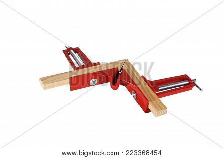 Corner joiner clamp. Isolated on white background.