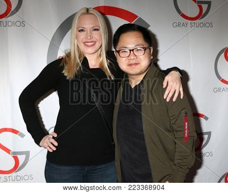 LOS ANGELES - JAN 20:  Adrienne Frantz, Matthew Moy at the LA Film Festival - Saturday at Gray Studios on January 20, 2018 in North Hollywood, CA