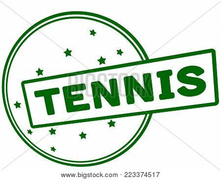 Rubber stamp with word tennis inside, vector illustration