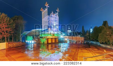 SOCHI, RUSSIA - JANUARY 11, 2018: Concert hall Festivalny