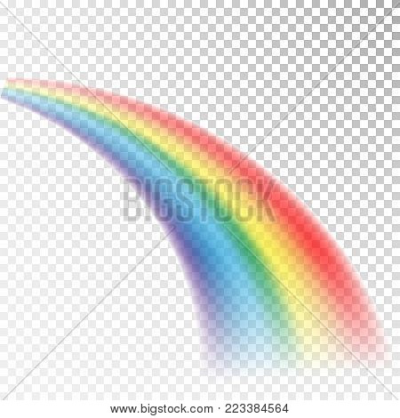 Rainbow icon. Colorful light and bright design element for decorative. Abstract rainbow image. Vector illustration isolated on transparent background.