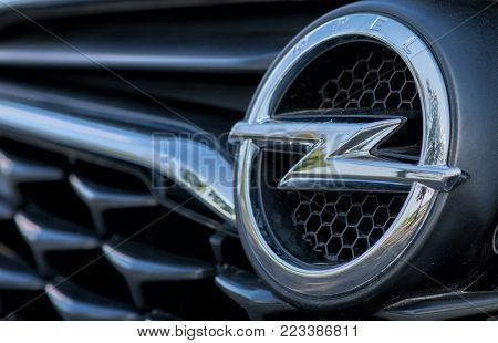 Romania-september 2 2017 Opel Logo On September 2 2017 In Romania, Logo Of An Opel Car Displayed In