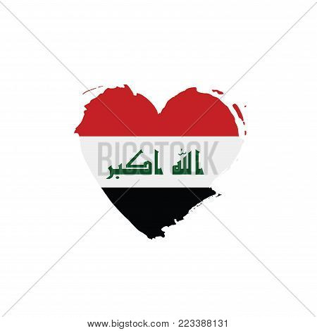 Iraqi flag, vector illustration on a white background