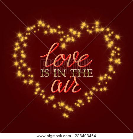 Love Air Golden Vector Photo Free Trial Bigstock