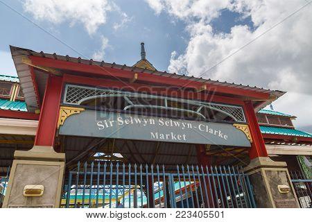 Sir Selwyn Selwyn-Clarke Market Victoria Mahe Seychelles.