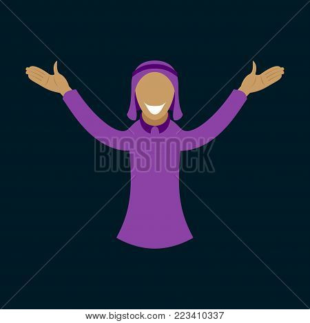flat icon on theme Arabic business arabic man smiling