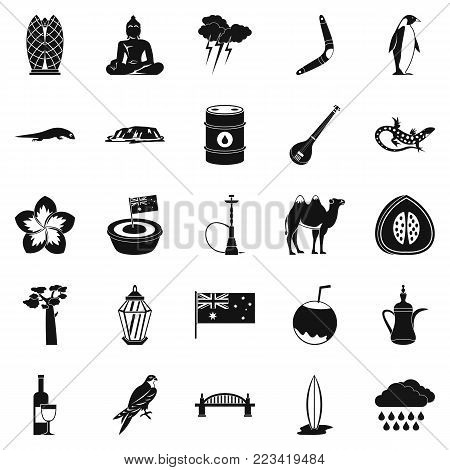 Unique brute icons set. Simple set of 25 unique brute vector icons for web isolated on white background