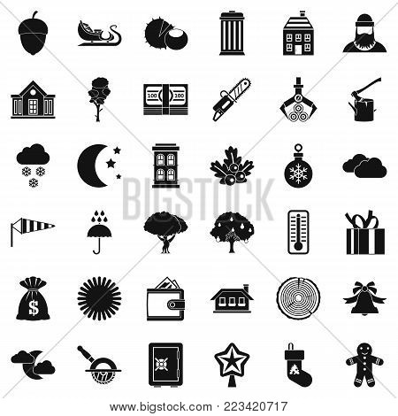 Suburban icons set. Simple set of 36 suburban vector icons for web isolated on white background