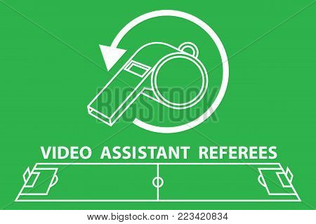 The video assistant referee football. vector illustration.