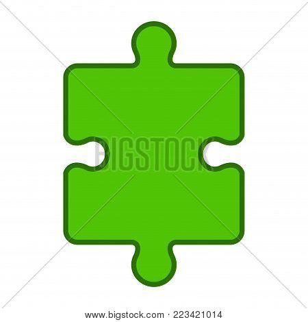 Jigsaw puzzle piece. Teamwork concept image. Vector illustration design