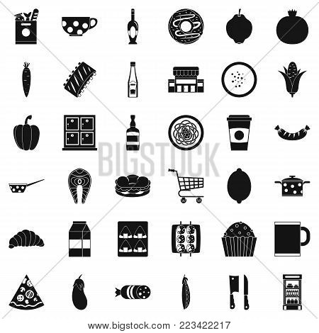 Formal dinner icons set. Simple set of 36 formal dinner vector icons for web isolated on white background