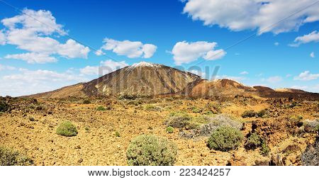 Teide volcano in Tenerife. Spain. Canary Islands. Teide is the main attraction of Tenerife island and national Park