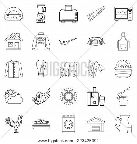 Genus icons set. Outline set of 25 genus vector icons for web isolated on white background