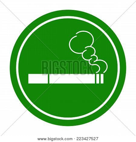 Sign Smoking Area . Vector illustration. Perfect for creating stencils.