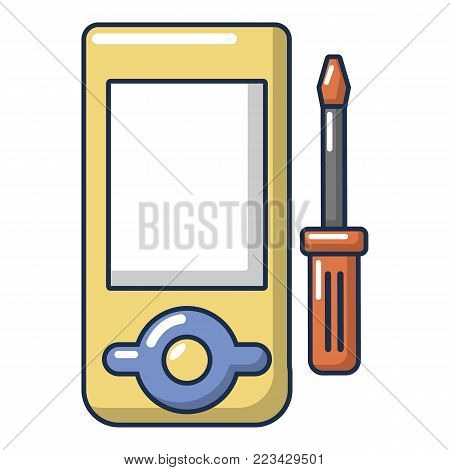 Player repair icon. Cartoon illustration of player repair vector icon for web.