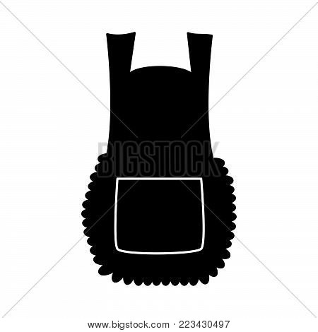apron, cartoon pinafore silhouette isolated on white background.