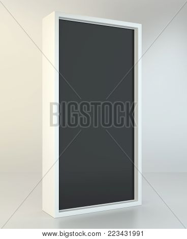 Advertising stand banner. 3d Illustration. Advertising display terminal stand.