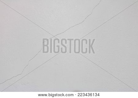 white wall inside a room with cracks