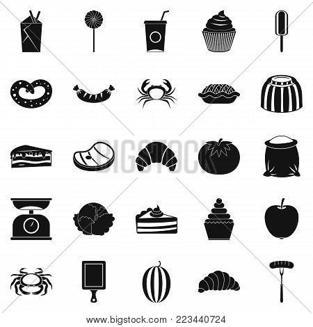 Best breakfast icons set. Simple set of 25 best breakfast vector icons for web isolated on white background