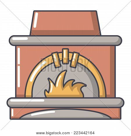 Blast furnace icon. Cartoon illustration of blast furnace vector icon for web.