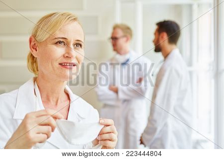 Woman as competent doctor at hospital