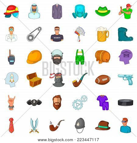 Personnel icons set. Cartoon set of 36 personnel vector icons for web isolated on white background